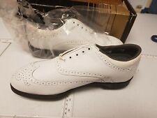 Footjoy Dryjoys GX Golf Shoes White 9 W New In Box Dead Stock