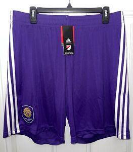 Orlando City SC Shorts Size X-Large Adidas Brand New NWT purple soccer lions XL