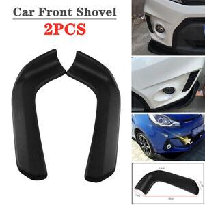 2PCS Universal Car Front Shovel Deflector Spoiler Splitter Diffuser Bumper Wing