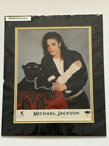 **MICHAEL JACKSON (PRE-PRINTED) SIGNED & MOUNTED SONY EPIC PUBLICITY PRINT**