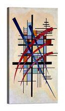 WASSILY KANDINSKY Zeichen mit Begleitung Stampa su tela Canvas effetto dipinto