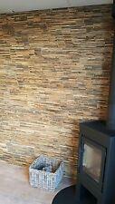 Wandverkleidung Holz Wandverblender Mix Hardwood / Teak 3D Optik