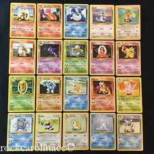 Pokemon BASE SET UNLIMITED UNCOMMONS #23-42/102 (NM/M) Choose from list
