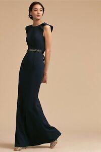 Adrianna Papell Midnight Navy Blue ELIOT Prom Bridal Wedding Formal Sz 14