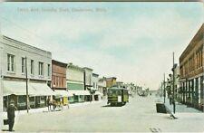 Gladstone MI Drug Store & Blackwell Hardware on Delta Avenue looking East 1913