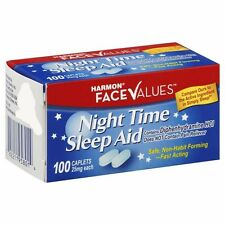 Night Time Sleep Aid Caplets Pain Free 100 Ct-HAVE A GOOD NIGHT