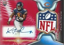 KA'DEEM CAREY 2014 TOPPS PLATINUM ROOKIE NFL LOGO SHIELD PATCH AUTO RC #D 1/1