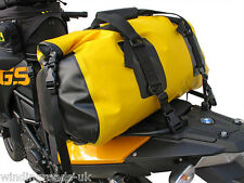 Wolfman Luggage Dry Duffle Waterproof Rear Tail Bag - Yellow/ Black 40 Litres
