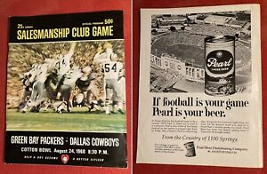 Vintage DALLAS COWBOYS Green Bay Packers 1968 program Cotton Bowl Salesmanshp gm