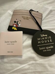 Kate Spade X Disney for minnie mouse card case holder ~NWT~