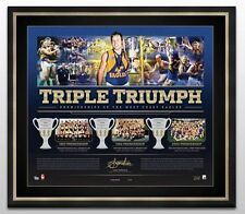 WEST COAST EAGLES JOHN WORSFOLD SIGNED FRAMED TRIPLE TRIUMPH LIMITED PRINT