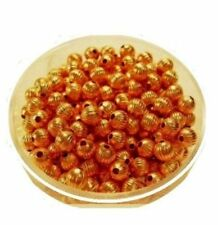 4 mm  Copper Roundel  Beads Pkg. Of 144 /Made in USA #CPB4RD