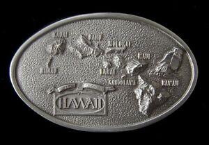 GREAT LOOKING HAWAIIAN ISLANDS MAP BELT BUCKLE BUCKLES