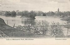 CD34.Vintage Postcard.Lake in Whitworth Park, Manchester.