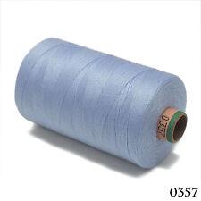 Amann 100% Polyester Core-Spun Sewing Thread Sabac 80 1000M Color 357 Cream Blue
