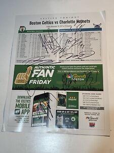 Charlotte Hornets 10 Autographs 11x14 Photo Signed