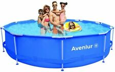 Avenli Stainless Steel Above Ground Swimming Pool with Easy Set-Up(12ft x 30in)
