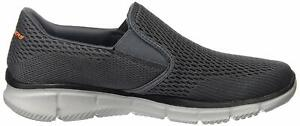 Skechers Men's Shoes Equalizer-Double Play Canvas, Charcoal/Orange, Size 7.0