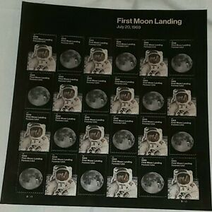 2019 First Moon Landing - Cat # 5399-5400 Sheet Of 24 Forever Stamps MNH