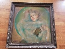 MARY VICKERS 3x3 MARILYN MONROE Large PAINTING ESTATE PRINT OIL CANVAS AUCTION