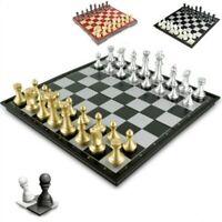 Chess Game Jeu D'échecs Médiéval 32 Pièces D'échecs Échiquier Magnétique Puzzle