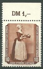 DDR MiNr. 505 (Gemälde) Oberrandstück mit Plattenfehler I postfrisch