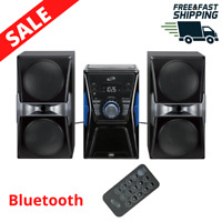 Home Music System Bluetooth CD Player FM Radio LCD Display Remote Stereo Speaker