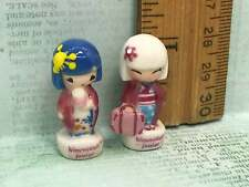 KIMMIDOLLS Kimmidoll Kokeshi Japanese Dolls  French Feves Figurines Miniatures