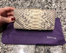 KOTUR Snakeskin Clutch Bag