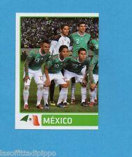 COPA AMERICA 2011 ARGENTINA-Figurina n.250- SQUADRA/TEAM SX -MESSICO-NEW BLACK
