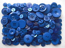 Dark blue buttons mixed sizes 100 grams