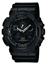 CASIO G SHOCK GA100-1A1 X- LARGE DIAL ALL BLACK MEN'S WATCH
