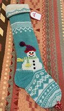 Pottery Barn Kids Christmas Stocking Snowman Fair Isle Large 32 Inches NWT
