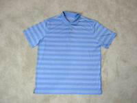 Nike Golf Tour Performance Polo Shirt Adult Extra Large Light Blue White Striped
