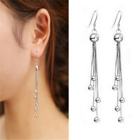 Womens Earrings Jewelry Ball Charm Tassels Chain Drop Dangle Eardrop Party Gift