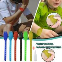Adult Kids Liquid Portable Sillicone Wristband Hand Dispenser Handwash Gel