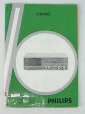 Philips 22RB192 Radio 70iger Jahre Bedienungsanleitung Schaltbild Special B7158