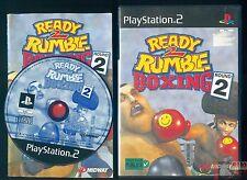 READY 2 RUMBLE BOXEO RONDA 2 JUEGO CONSOLA PLAYSTATION 2 COMPLETO PAL FR