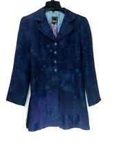 Women's Nanette Lepore Navy Blue Floral, Lined Blazer Jacket Size 6