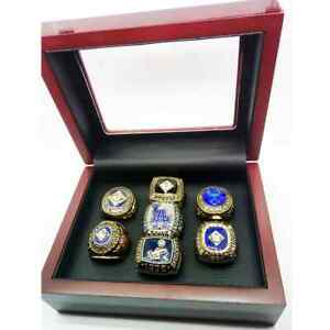 MLB Los Angeles Dodgers 7 pcs + box World Series Championship ring size 11