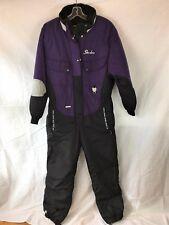 Vintage Ski-doo Bombardier Womens Purple Black Snowmobile one piece Rotax Large