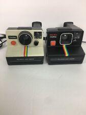 2 Polaroid Land Camera One Step Time Zero Rainbow Q-light Camera Not Tested