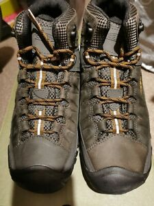 Keen Mens Targhee III Mid Waterproof Walking Boots UK 7 Black Olive/Golden Brown