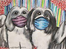 Havanese Masks Aceo Print Dog Mini Art Card 2.5 X 3.5 by Ksams Collectible