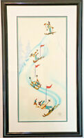 "Disney ""Goofy Skier"" Limited Edition Sericel 1941 Film Short The Art of Skiing."