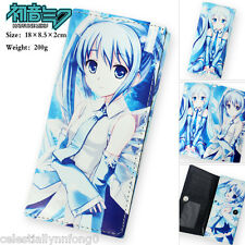 Anime Hatsune Miku Snow Vocaloid Leather Purse Cosplay Wallet Womens Long Clutch
