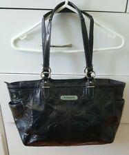 Authentic COACH Patent Leather Black Handbag Shoulder Bag B34