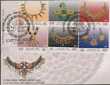 INDIA 2000 Gems & Jewellery INDEPEX ASIANA 2000 Ind Stamp Exhib SG 1966-1971 FDC