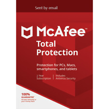 Mcafee Total Protection 2020 2/3/4/5 YEARS Unlimited + VPN PC /Mac Download