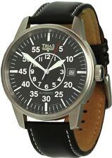 Trias Uhren Fliegeruhr mit Automatikwerk Lederuhrband Herrenuhr